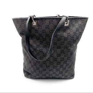 Gucci GG Monogram Canvas Eclipse Tote Bag Black